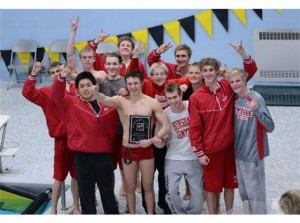 Boys' swimming takes conference title