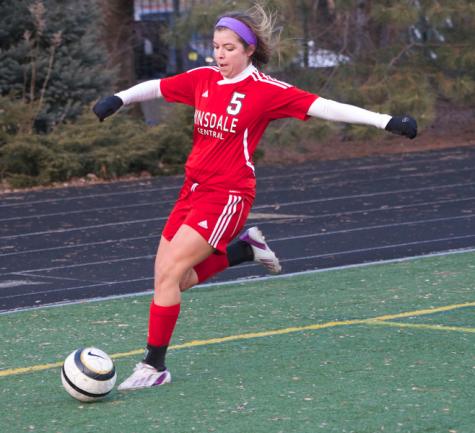 Girls' varsity soccer defeats last year's state champions