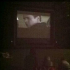 """Students watch """"Remember the Titans"""" during Movie Night in the courtyard."""