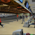 Students participate in the free bowling event at Suburbanite Bowl.
