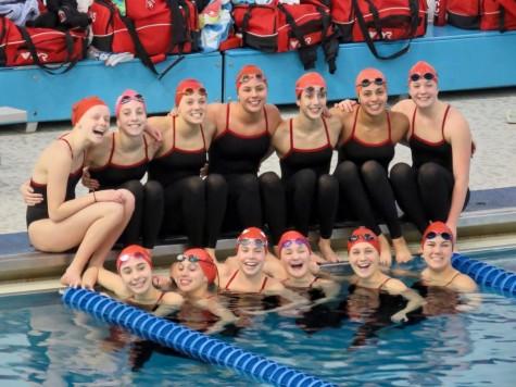 Girls' swimming takes 14th at state meet