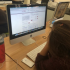 Christi Carras, senior, visits the common application website, a place seniors have become very familiar with over the past weekend, for better or for worse.