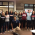 Norman Mailer Semifinalist Emily Morse (second from the right) poses with her Honors Seminar in Writing class last year.