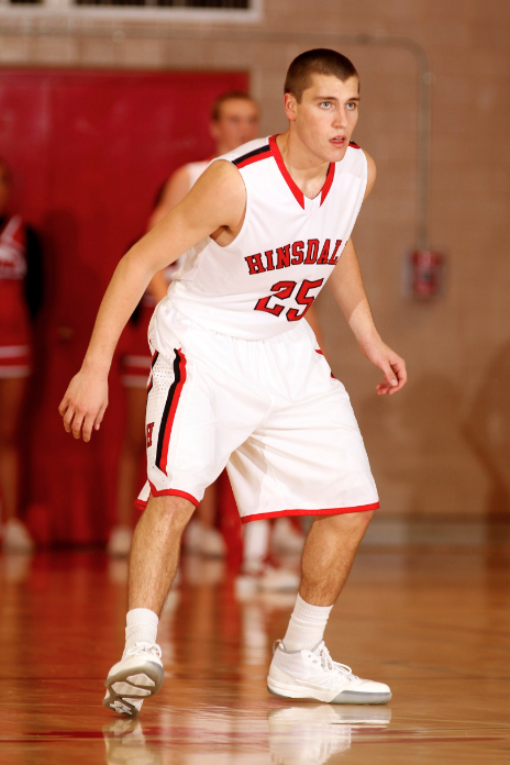 Thaus, while playing basketball at Hinsdale Central.