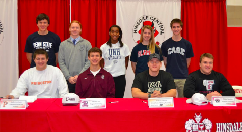 Athletes commit to colleges at winter signing