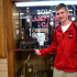 Junior and cross country runner Ben Anderson poses with a hard-earned state championship trophy.