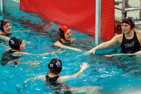 Varsity girls water polo splashes through a great season