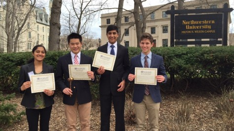 Four Central delegates win awards at Model UN conference