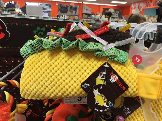 This taco costume is a great look for your dog this Halloween.