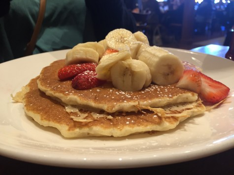 YiaYia's Pancake House and Restaurant uses fresh ingredients as seen on the Strawberry Banana Pancakes