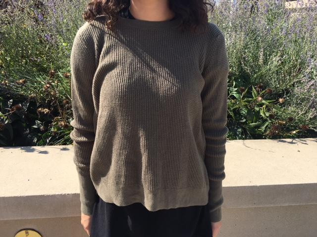 Libby Mccarthy demonstrates the classic army green fall trend