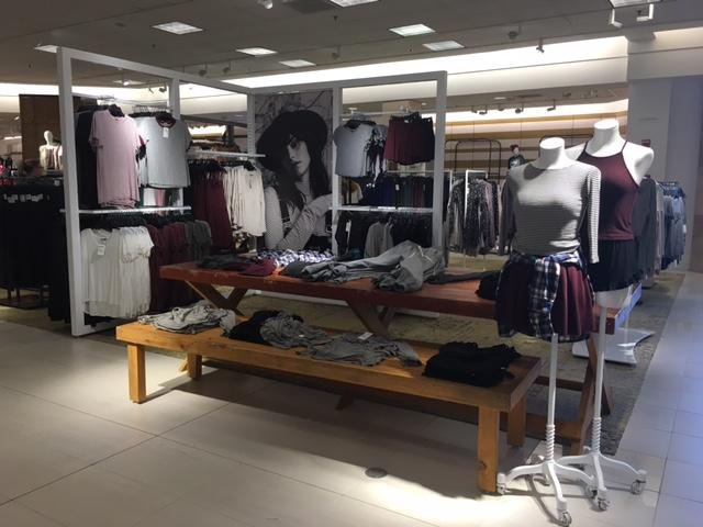 Nordstrom displays their Brandy Melville range in the BP section