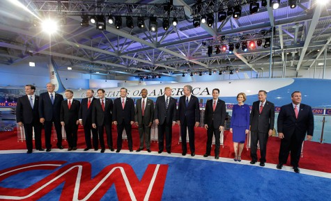 At the first G.O.P. Debate, the components stand gleefully next to each other. Courtsey of Google.