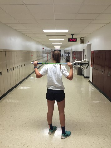 Napier practices lacrosse year round and hopes to continue playing it in college.