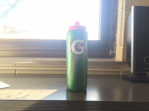 Gatorade bottles are a cost effective and popular water bottle at Hinsdale Central