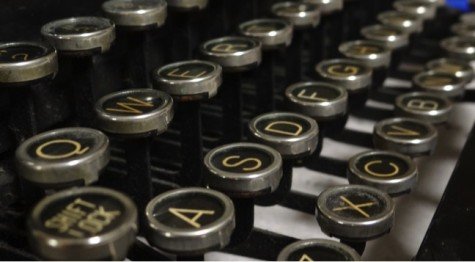 The typewriter used to sign in guests before they entered the community room.