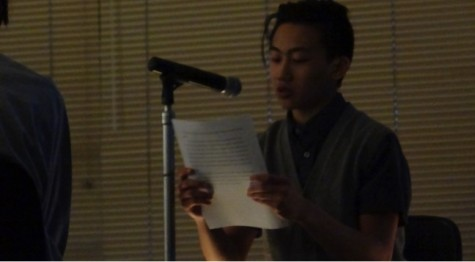 "Nicko Ledesma, junior, reading his story ""A Whole Bunch of Knots""."