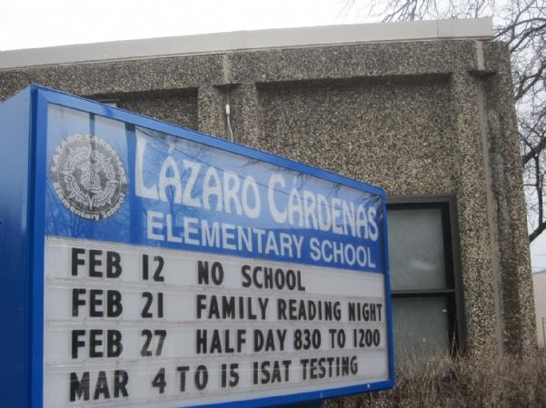 Lazaro Elementary School. Central's orchestra donated instruments to the school this spring.