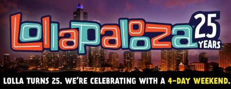 Lollapalooza adds a fourth day to the festival in celebration of 25 years in Chicago.