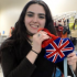 Here I am with my very necessary Union Jack Prom necessity.