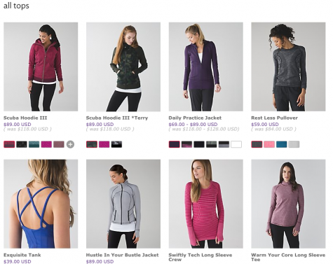 The 'we made too much' section on Lululemon is a cheaper option that's perfect for a mom on the go