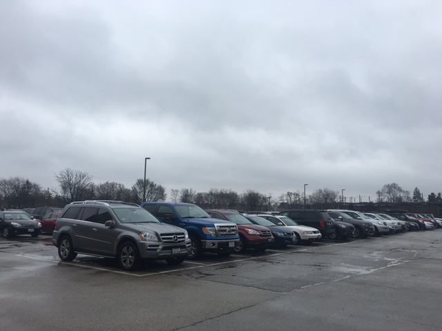 Parking at Hinsdale Central is limited, which is why many people find spots off campus
