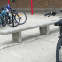 Now that the weather is more welcoming for cyclists, some students may have to worry about receiving a parking warning near the pool doors that currently only have one rack for bikes.