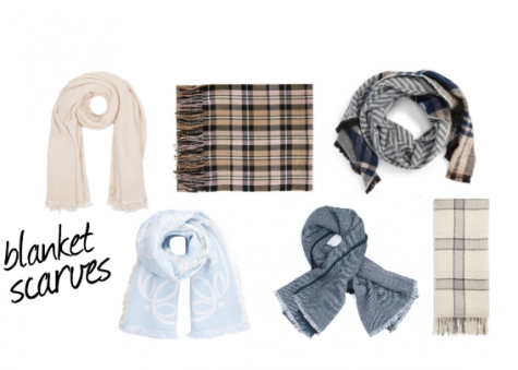 Blanket scarves are large in size and can be tied in a variety of ways.