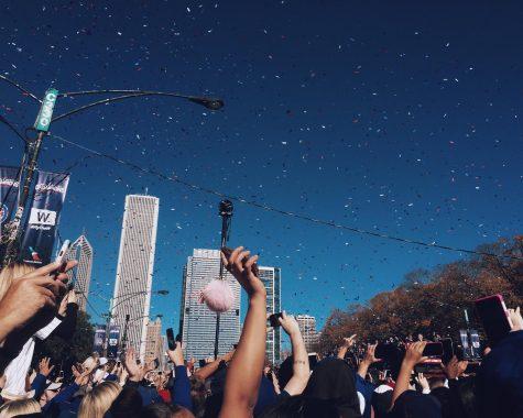 A celebratory parade followed the win on Nov. 4.