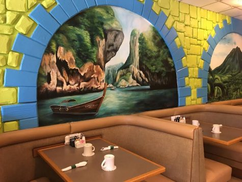 One of the many murals at Paradise Cafe.