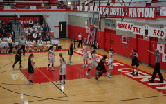 Girls' basketball honors seniors and pursues postseason