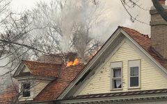 Old home catches fire in Hinsdale